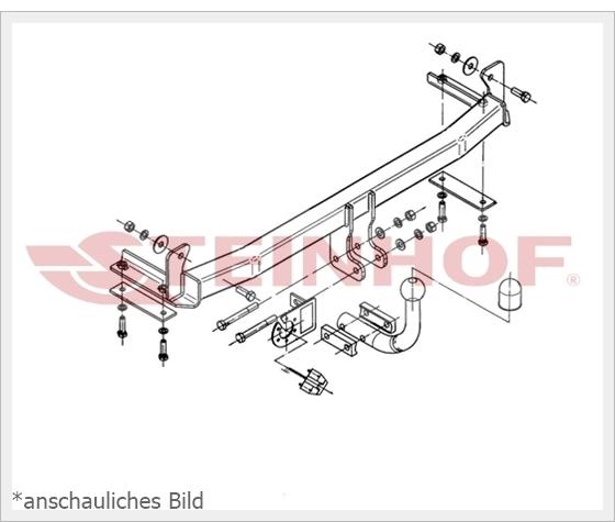 Anhängerkupplung starr SEAT CORDOBA VARIO 1999-2002 E-SATZ 7-polig NEU ABE