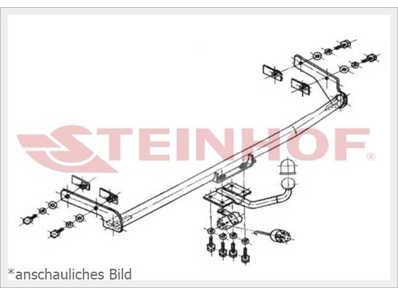 Anhängerkupplung starr Für Skoda FELICIA 3//5-Tür 1995-2001+E-SATZ 7 polig ABE